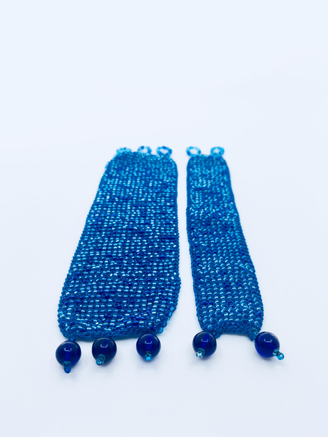 Mother Daughter Beaded Cuff Set in Blue Tones