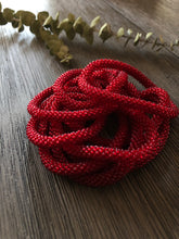 Ruby Red Beaded Bangle