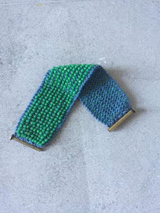 Green & Blue Beaded Cuff