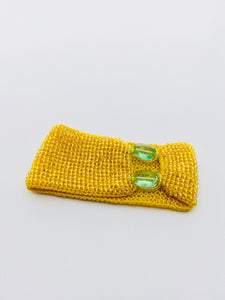 Women's Yellow Beaded Cuff