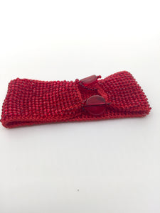 Women's Red Beaded Cuff