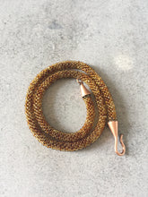 Amber Toned Beaded Necklace