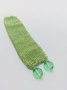 Women's  Mint Beaded Cuff