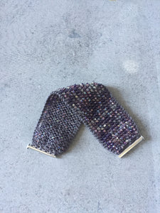Purple Beaded Cuff