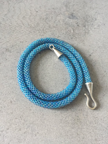Aqua Beaded Necklace