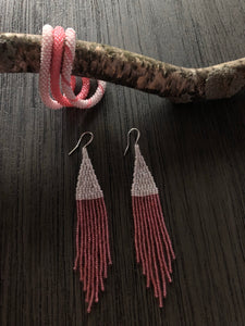 Fringe Earrings and Bangles set