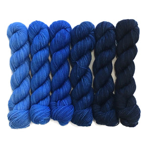 Tangled Up in Blues Six Pack Half Skein Set