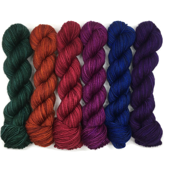 Dragon Scales Six Pack Half Skein Set