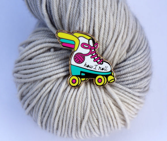 Nerd Bird Makery Enamel Pin - Roller Skate
