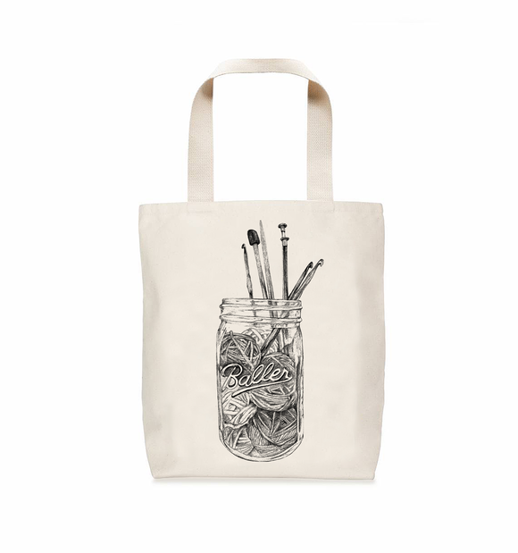 Nerd Bird Makery Baller Tote Bag