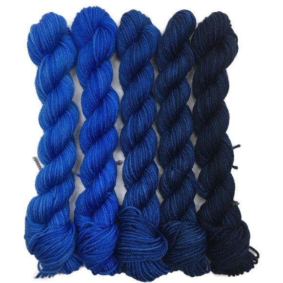 Shades of Tangled Up in Blues - 5 Pack Practicality 75/25 Marianette Set