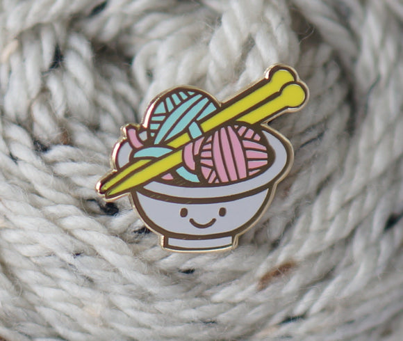 Nerd Bird Makery Enamel Pin - Wooly Ramen