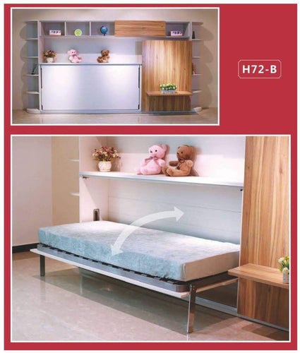 Horizontal Super Single Hidden Wall Bed Without Table - Super Single H72-B - Spacekoncept