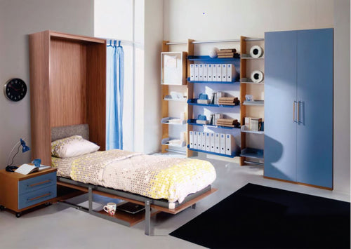 Vertical Single Space saving Hidden wall Bed With Table - SK3 - Spacekoncept