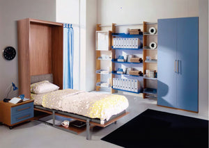 Vertical Single Space Saving Hidden wall Bed Without Table - Spacekoncept