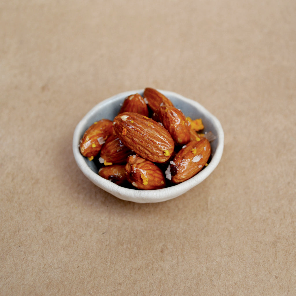 Roasted Almonds with Cold Smoked Honey