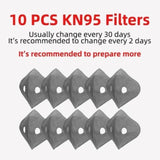 N95 Activated Carbon Filters Replacement for Washable Masks with 2 Repirators