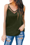 Green Embossed Mesh Cami Tank