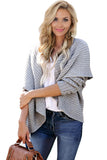 Gray Cashmere Blend Convertible Cardigan