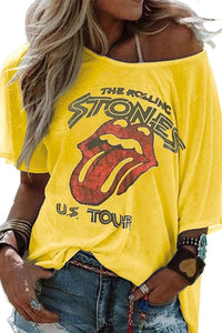 THE ROLLING STONES U.S. TOUR Yellow T-shirt