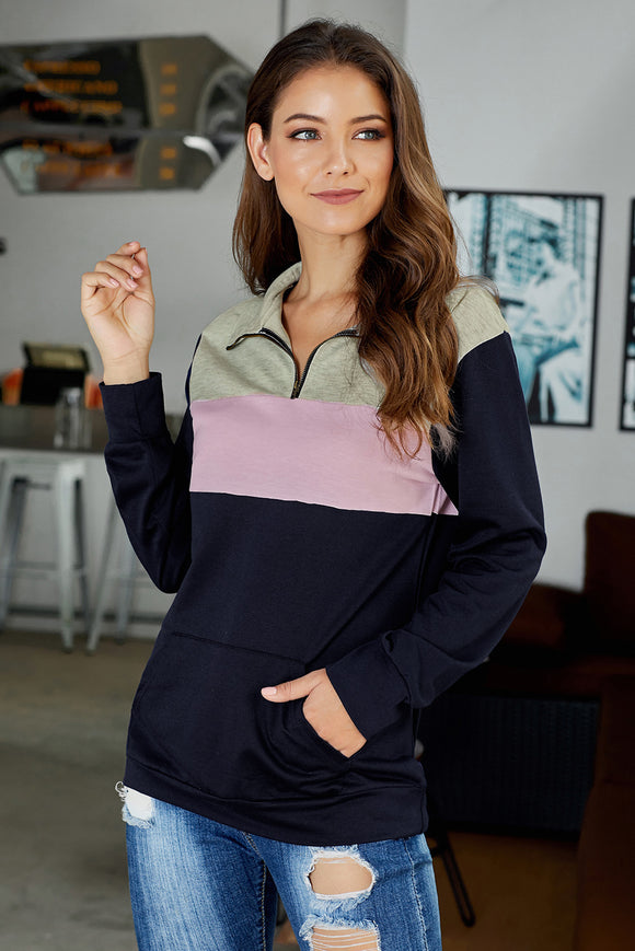Pink On the Go Quarter Zip Pullover