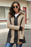 Khaki Outdoor Padded Jacket for Women