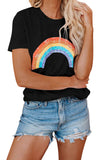Black Pot Of Gold Heathered Rainbow Tee