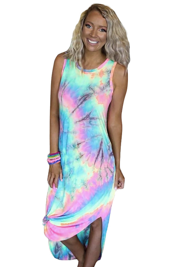 Sand in My Toes Neon Tie Dye Midi Dress