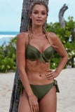 Green Push Up Bikini with Ties
