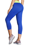 Blue Yellow High Waist Full Length Leggings