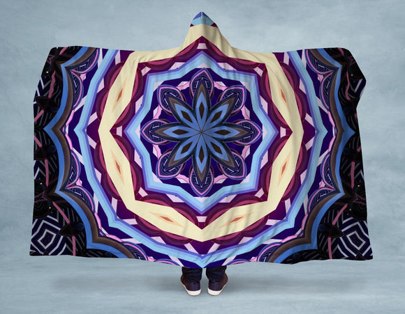 Bright Mandala Hooded Blanket