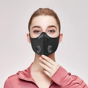 Fashionable Washable Outdoor Activity Face Mask with Double Respirators
