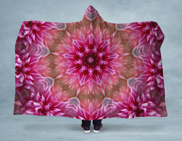 Pink Mandala Hooded Blanket