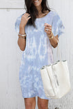 Sky Blue Pile Of Sleeves Camouflage Dress