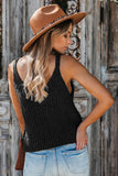 Black Equinox Cotton Blend Tank