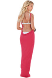 Rose Greek Goddess Spaghetti Strap Sarong Beachwear