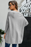 Gray Oversized Batwing Sleeve Sweater Dress