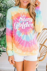 Stay Golden Tie-dye Sweatshirt