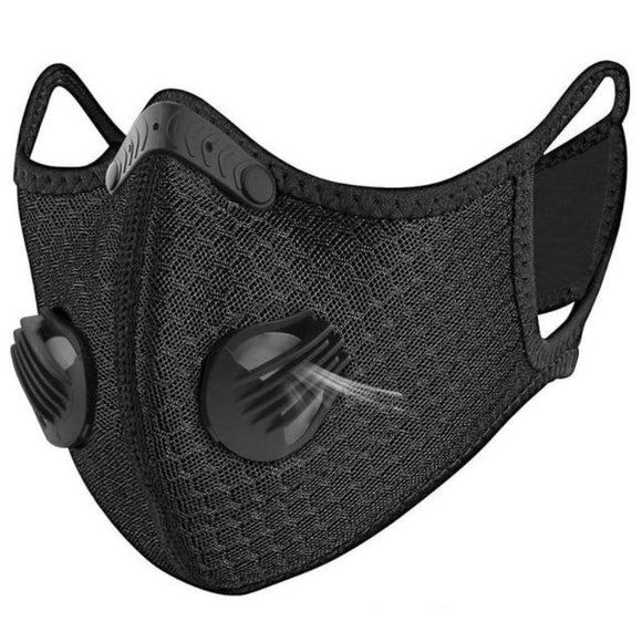 Washable, Super Breathable Sports Face Mask with Two Air Valves