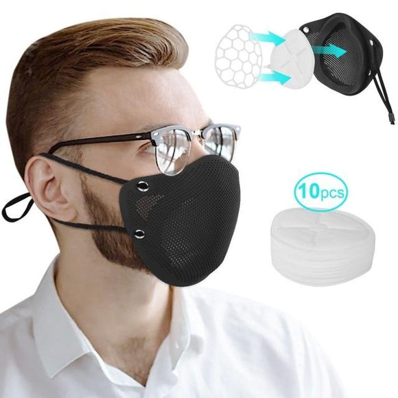 Washable Reusable Silicone Face Mask With Replacement Filters