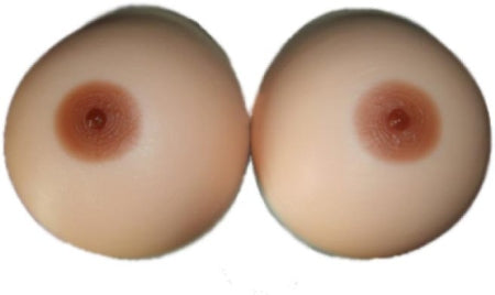 Up close on a pair of breastforms
