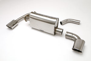 Porsche USED-Carrera 2 Turbo Rear Exhaust System, Muffler with Wastegate Pipe (Oval Tips) #FPOR-0225