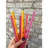 Silicone Reusable Straws - 6 pack