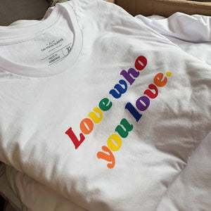 Love Who You Love - 100% Cotton LGBTQ Pride T-Shirt