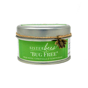 Beeswax Candle - Bug Free (with Citronella & Lemongrass)