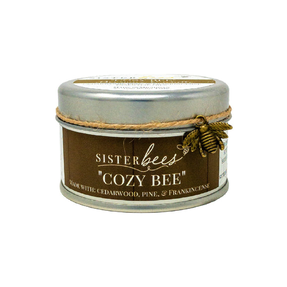 Beeswax Candle - Cozy Bee (with Cedarwood, Pine, & Frankincense)