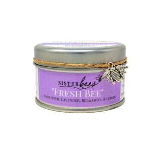 Beeswax Candle- Fresh Bee (with Lavender, Bergamot, & Lemon)