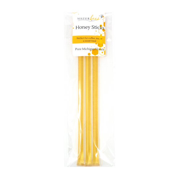 Pure Northern Michigan Honey Sticks 3pk