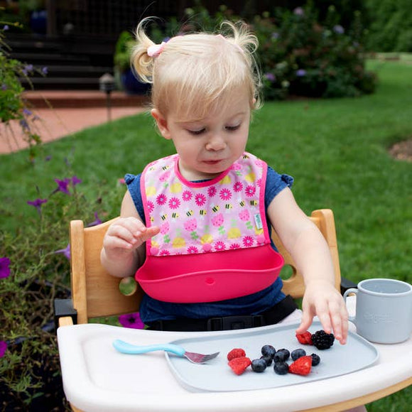 Snap + Go® Silicone Food-catcher Bib (3-in-1 set)