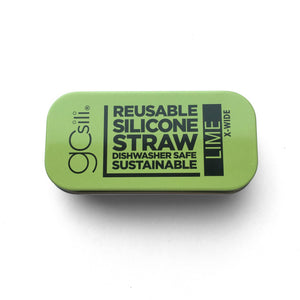 Extra Wide Reusable Straw + Tin